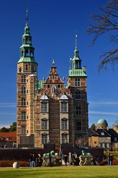 Rosenborg Castle is a renaissance castle located in Copenhagen, Denmark. The castle was originally built as a country summerhouse in 1606 and is an example of Christian IV's many architectural projects. It was built in the Dutch Renaissance style, typical of Danish buildings during this period, and has been expanded several times, finally evolving into its present condition by the year 1624.