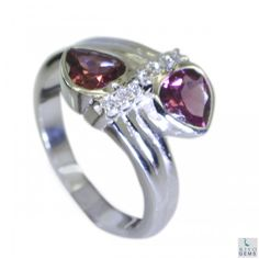 Riyo Better Garnet 925 Solid Sterling Silver Red Ring Srgar7-26055