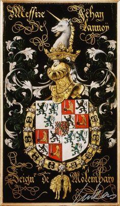"(212) Jean de LANNOY, sgr de Molembaix (ca1509-1560) -- ""Messire Jehan de Lannoÿ, seign(eur) de Molembaix"" -- Armorial plate from the Order of the Golden Fleece, 1559, Saint Bavo Cathedral, Gent"