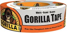 Gorilla Tape, White Duct Tape, x 30 yd, White, (Pack of