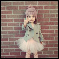 jacket and tutu. I would let my little girl wear tutu wherever she wanted. Fashion Kids, Little Girl Fashion, My Little Girl, My Baby Girl, Toddler Fashion, Little Princess, Look Fashion, Outfits Niños, Fashion Outfits