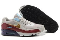 http://www.airgriffeymax.com/nike-air-max-90-cool-grey-dark-red-gold-p-250.html Only$70.06 #NIKE AIR MAX 90 COOL GREY DARK RED GOLD #Free #Shipping!
