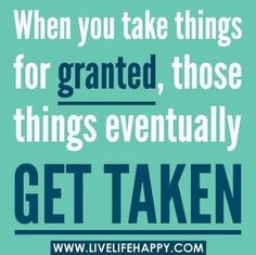 Some people only miss what they took for granted AFTER it's been taken away! Who else has been in this situation?