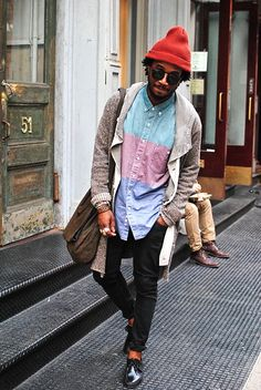 I would wear this in a second..great look beanie pants shirt sunglasses fashion men tumblr Style streetstyle beard