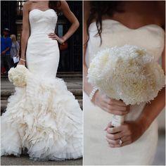 Classy and elegant Vera Wang wedding dress; photo: Dana Siles