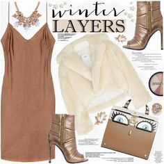 Winter Layers: Slip Dress by katjuncica on Polyvore featuring Toga, Pierre…
