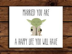 Star Wars Wedding Card Printable // Geeky by SomebodyLovedShop, $2.00