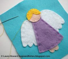 Bugs and Fishes by Lupin: How To: Felt Angel Ornament #1