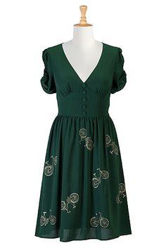 Cute vintage Steampunk dress? eShakti Womens Take me for a ride dress $66.95 AT vintagedancer.com