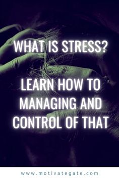 The concept of stress is certainly familiar to everyone. There is a lot of talk about the disadvantages and dangers of stress and tips on stress management. But what exactly is stress in question? And how to managing and control of that? What Is Stress, Business Motivation, Health Education, Stress Management, Personal Development, This Or That Questions, Learning, Tips, Blog