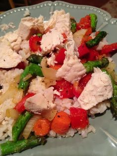 HEALTHY Chicken and veggie stir Fry- 21 day fix meals  Fearless and Fit - with Amie DeSanzo