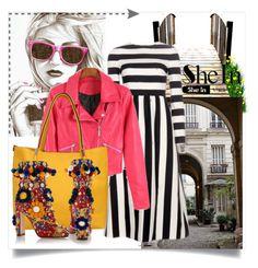 """SheIn III/6"" by zenabezimena ❤ liked on Polyvore featuring moda, Dolce&Gabbana, Sheinside y topset"