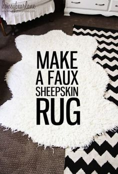 Make a Faux Sheepskin Rug