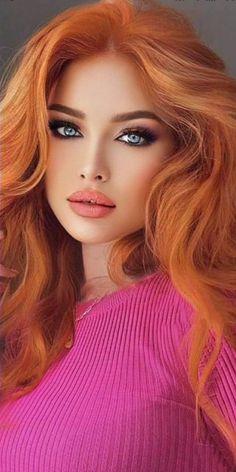Beautiful Red Hair, Most Beautiful Faces, Stunning Eyes, Beautiful Women Pictures, Beautiful Girl Image, Beauty Full Girl, Beauty Women, Blonde Beauty, Hair Beauty