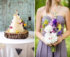 Katelyn James; diy-country-wedding-rustic; cutest idea for cake stand