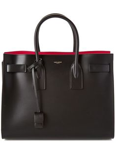 Saint Laurent Large Sac De Jour Leather Tote - what dreams are made of. - bags, givenchy, cosmetic, homemade, black, school bag *ad