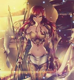 Erza Scarlet. Wow, that armour is beautiful.