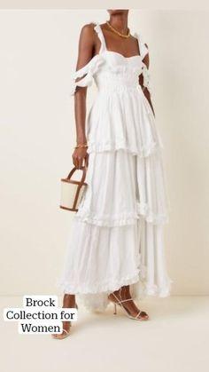 White Dress Summer, Casual Summer Dresses, Spring Dresses, White Flowy Dress, Modest Dresses, Pretty Dresses, Summer Outfits, Casual Outfits, Country Wedding Dresses