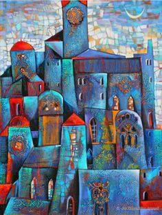 Altstadt am Abend by Ira Tsantekidou. (Serie Cities).