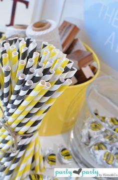 Yellow paper straws!