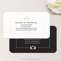 Photographer Business Card / Calling Card / Mommy Card |  Photography Business Card ©MalloryHopeDesign.Etsy.com