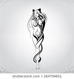 Similar images, stock photos & vectors of vector silhouette of a horse& head - 645837871 - - Demon Tattoo, Angel Devil Tattoo, Angel And Devil, Art Drawings Sketches, Tattoo Sketches, Tribal Images, Tribal Rose, Black White Tattoos, Watch Tattoos