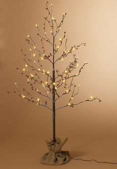 Snow Covered Birch with Berries LED 4ft Artificial Trees wishing tree