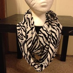 Womens Animal Print Infinity Scarf/White and Black Infinity Scarf on Etsy, $8.00