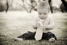 Baby boy with tie.