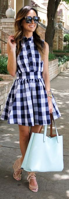Summer Gingham Dress by Sequins & Things