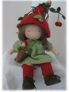 Fairy Cherry Cheerful Fairywooldolls waldorf by Fairywooldolls