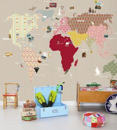 Whole Wide World Wallpaper by Mr Perswall | Jane Clayton