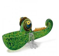 Chameleon Green Small Pawel Borowski Glass Sculpture