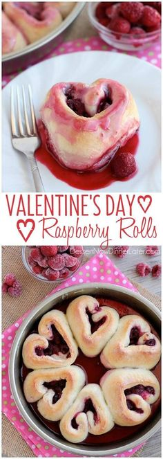 These heart shaped raspberry rolls are the perfect sweet treat or breakfast idea for your sweetheart this Valentine's Day! on MyRecipeMagic.com