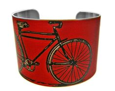 Stainless Steel cuff bracelet Bike by UniqueArtPendants, $40.00