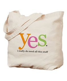 Another great find on #zulily! Natural 'Yes' Tote #zulilyfinds