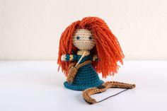 Disney Merida Crochet Amigurumi Doll.  Pattern by Sahrit.