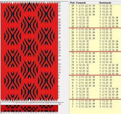 34 tarjetas, 2 colores, repite cada 8 movimientos // sed_692 diseñado en GTT༺❁