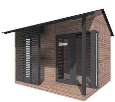 Vierasmaja Harjakatolla Outdoor Sauna, Summer Cabins, Container Shop, Private Garden, Tiny Living, New Builds, Outdoor Spaces, Summer Time, Tiny House