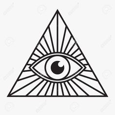 Stock Vector All Seeing Eye Symbol, Vector Illustration Royalty Free Cliparts, Vectors, And Stock Illustration. Illuminati Drawing, Illuminati Tattoo, All Seeing Eye Tattoo, All Seeing Eye Meaning, Triangle Symbol, Triangle Vector, Pyramid Eye, Tattoo Sketches, Third Eye