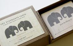 Elephants Texts Bookplate Stamp by INK+WIT (Tara Hogan)