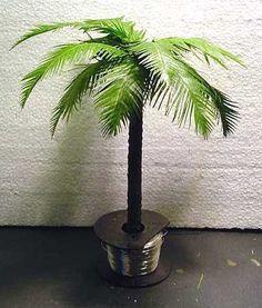 Armorama :: Making Palm Trees by Eric Sikkema Paper Palm Tree, Mini Palm Tree, Miniature Palm Trees, Miniature Plants, Palm Tree Images, Tree Plan, Hawaiian Luau Party, Ramadan Crafts, Mini Plants
