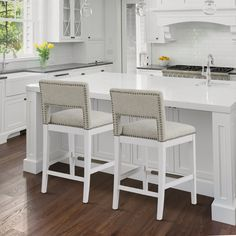 Foxborough Bar Stool - Crissie Alone Home Counter Stools With Backs, Counter Height Bar Stools, 24 Bar Stools, White Bar Stools, Simple Fireplace, Modern Fireplace, Stone Fireplace Designs, Breakfast Bar Stools, Upholstered Chairs