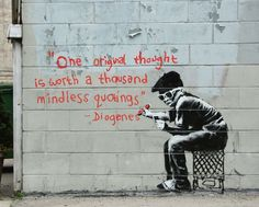"Banksy graffiti art, ""Diogenes"", Various Sizes, Giclee Print on Canvas Banksy Graffiti, Street Art Banksy, Graffiti Books, Graffiti Kunst, Banksy Canvas, Graffiti Artwork, Bansky, Graffiti Drawing, Banksy Prints"