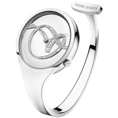 """I love watches  VIVIANNA Bangle 326 """"Forget-Me-Knot"""" - Large dial and pavé set diamonds"""