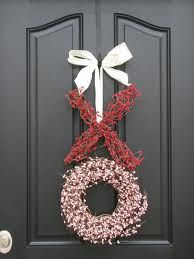 """Adorable, for double doors put """"x"""" on one door and """"o"""" on the other"""
