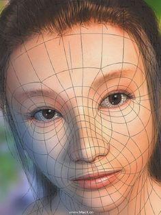 Cinema 4d Tutorial, 3d Tutorial, 3d Anatomy Model, Face Topology, Maya Modeling, Polygon Modeling, 3d Sketch, Mosaic Portrait, Character Design Tutorial