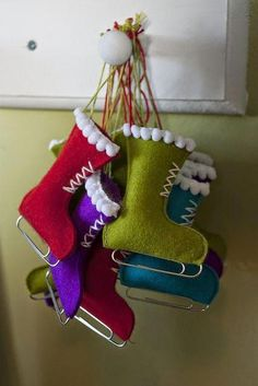 Cute Christmas ornament craft                                                                                                                                                      More #christmasdecorationsdiy
