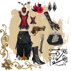 """""""Wild West Steampunk"""" by crystal-dreaming on Polyvore"""