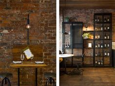 Un restaurante de estilo industrial en Melburne · An industrial style restaurant in Melbourne
